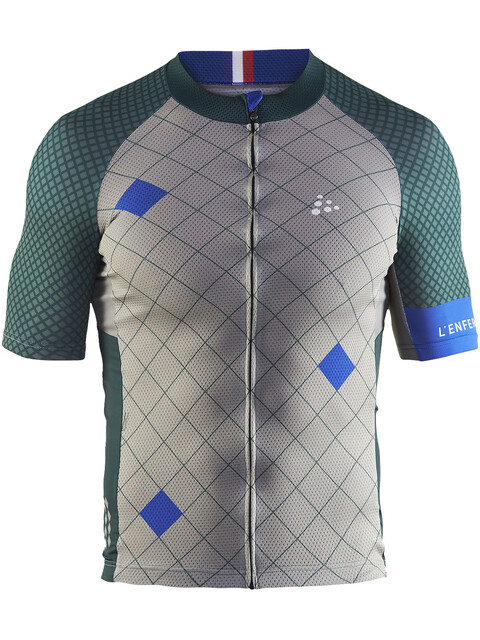 Craft Monument - Maillot manga corta Hombre - gris/verde